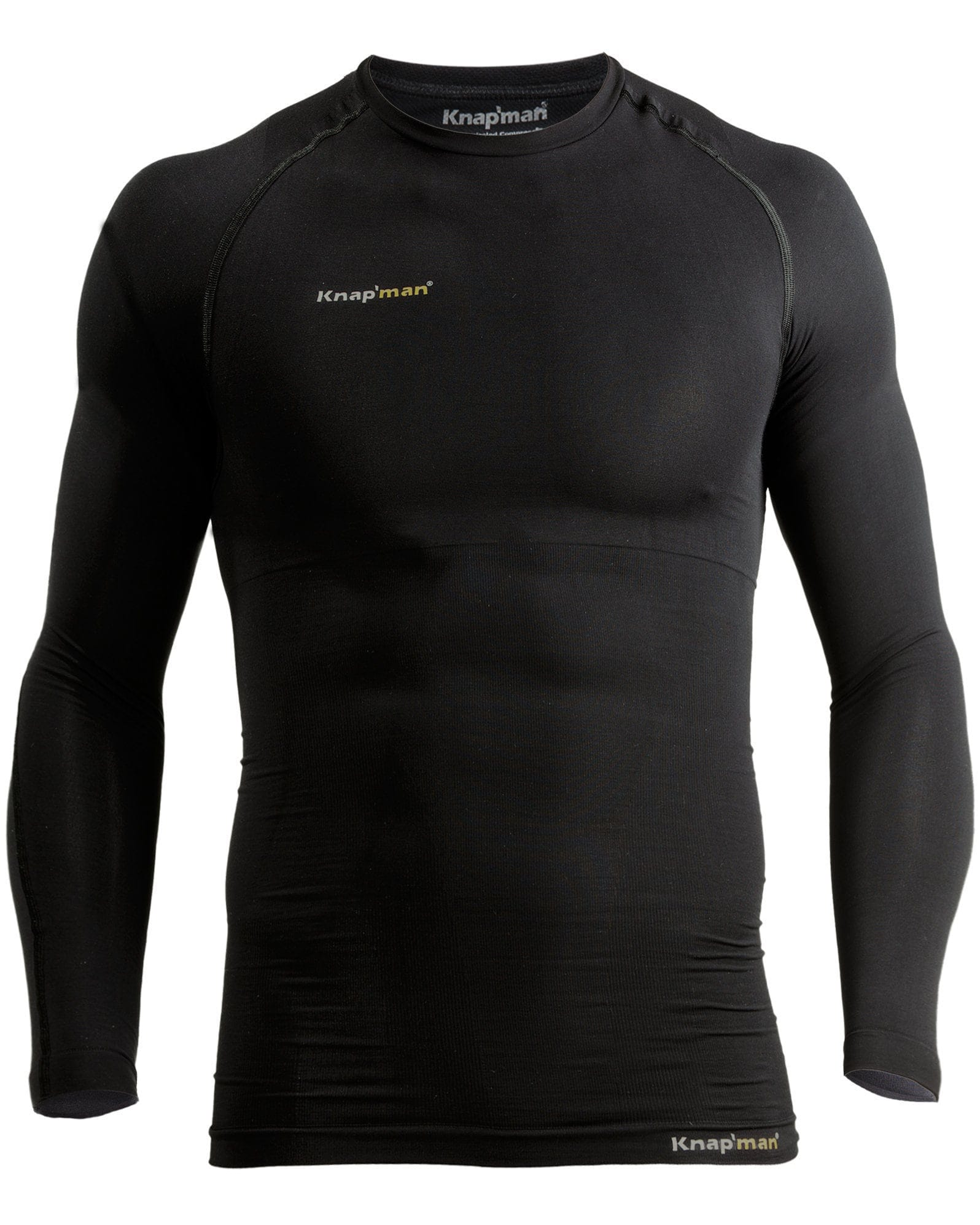 Knap'man Thermo Active shirt Lange Mouwen Zwart