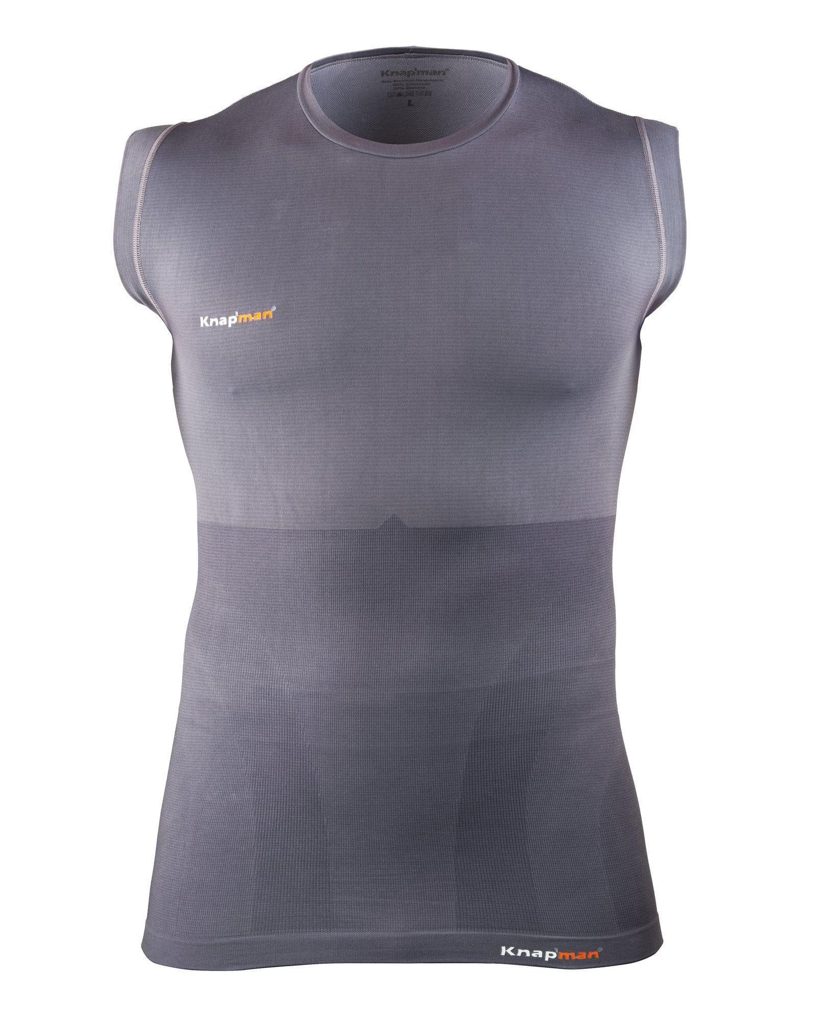 73e9b45c5d Voor Sleeveless Corrigerend Heren Knap man Shapewear Shirt nl Grijs aqCwv4