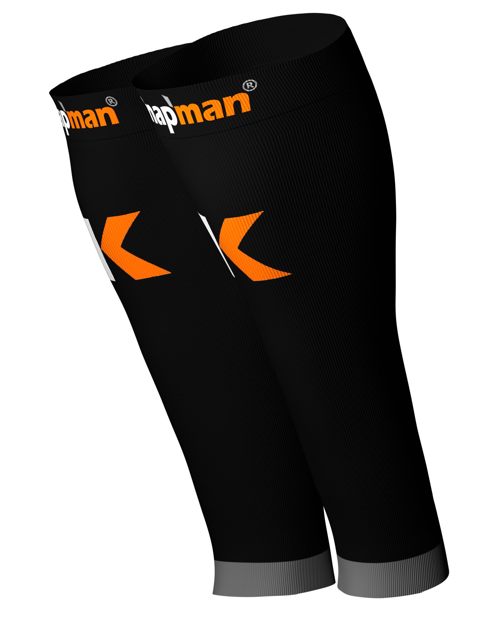 Knap'man Active Strong Compressie Calf Sleeves zwart