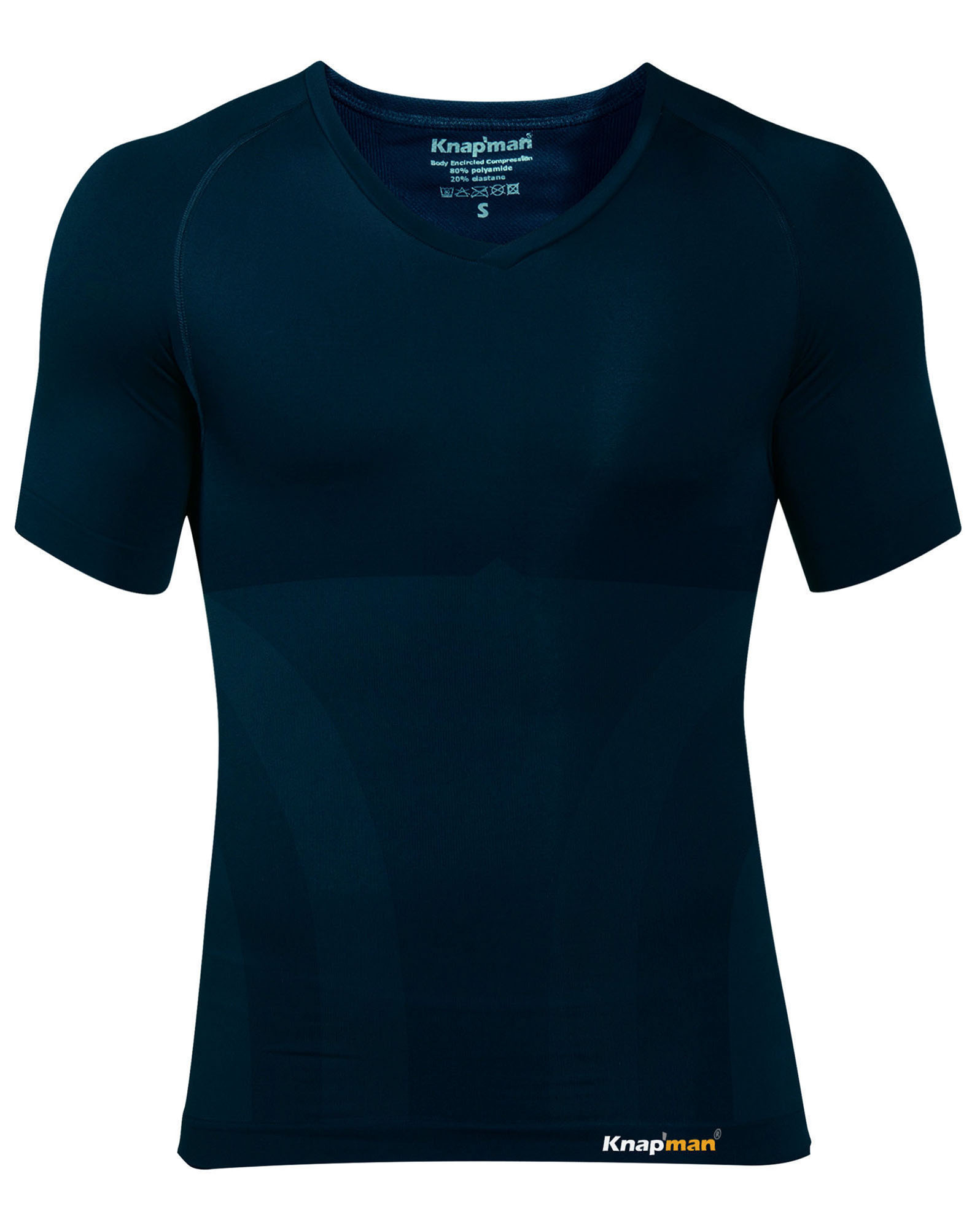 Knap'man Corrigerend V-hals Shirt Navy Blue | 2.0 Version